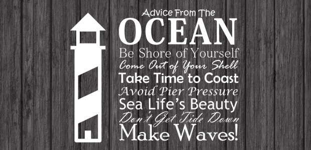 Advice From the Ocean with Logo