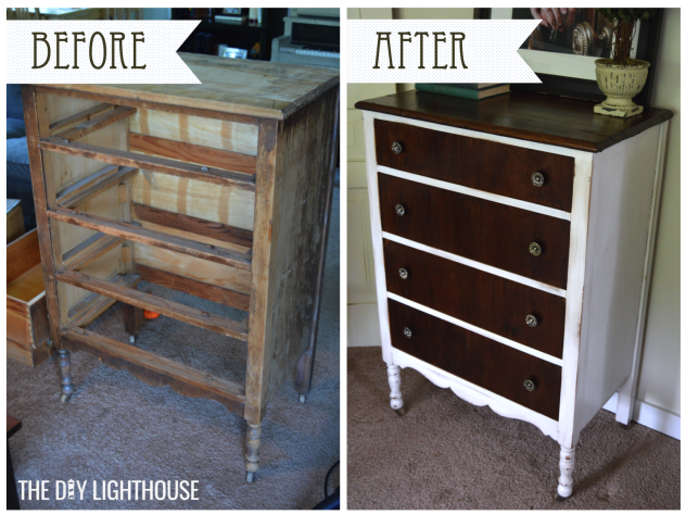 Before and after white distressed dresser logo 1
