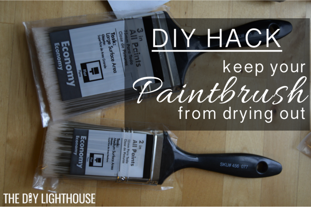 DIY Hack keep paintbrush from drying out logo