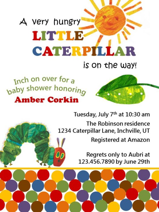 Hungry Caterpillar Invitation