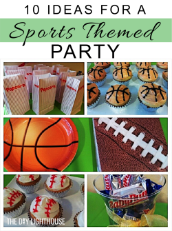 Sports themed party ideas Pinterest