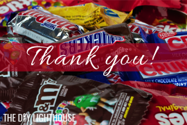 thank you with candy logo
