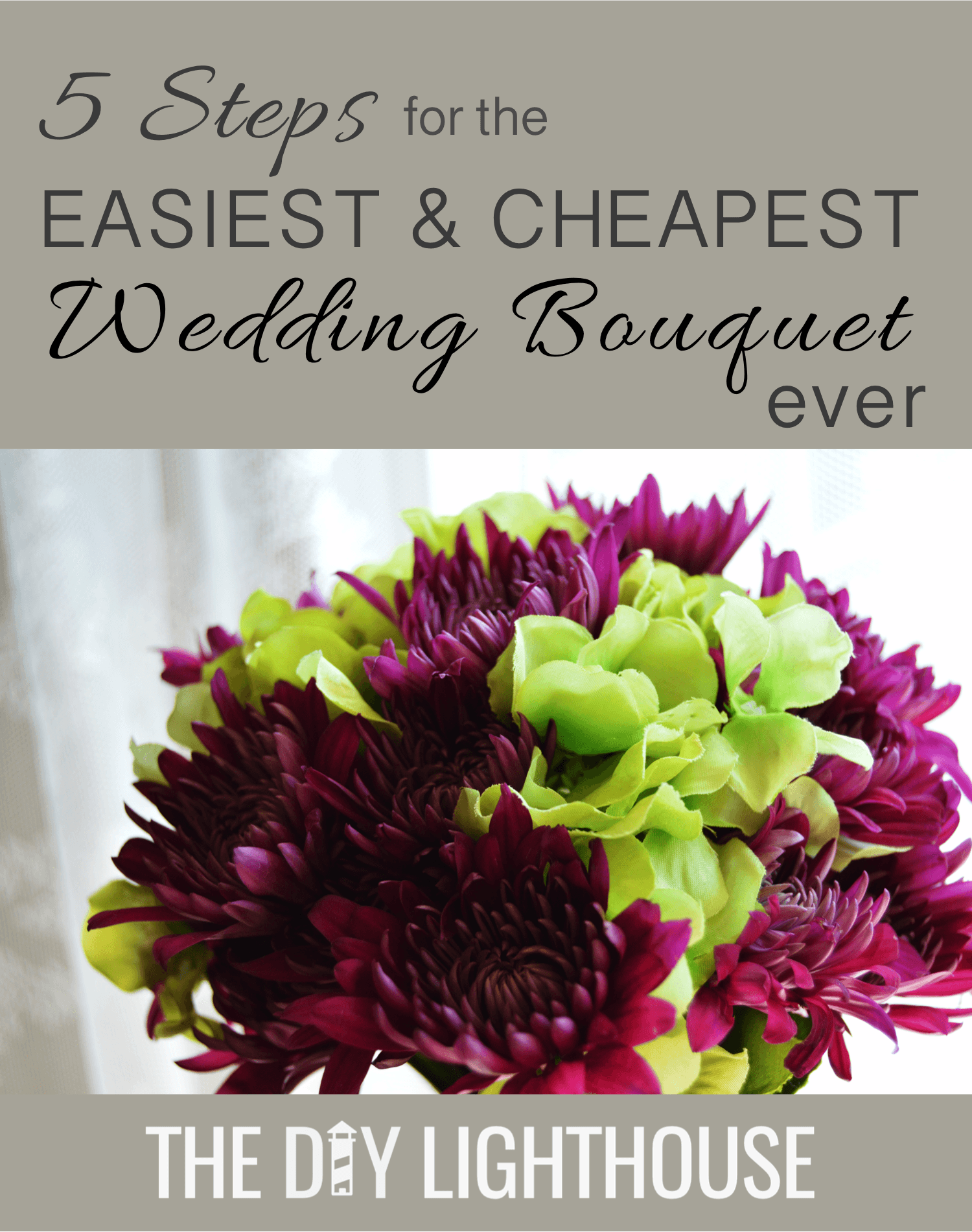 How to make an easy and cheap diy wedding bouquet izmirmasajfo Choice Image