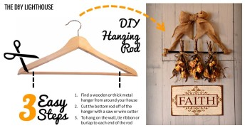 DIY Hanging Rod 3 Steps
