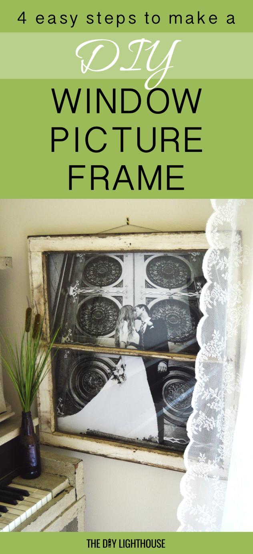 diy window picture frame pinterest