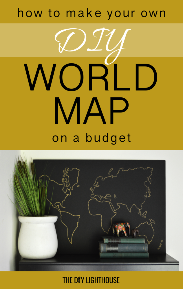 diy world map on a budget