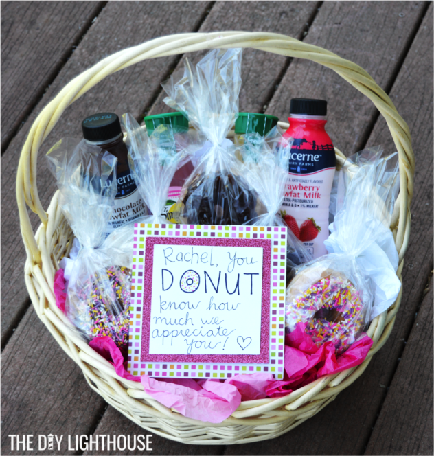 donut thank you basket