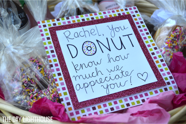 donut thank you card