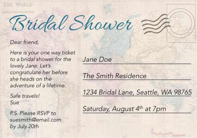a527f49601fb How to Throw a Travel Themed Bridal Shower on a Budget