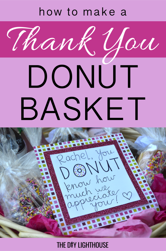 make a thank you donut basket