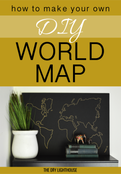 world map diy pinterest