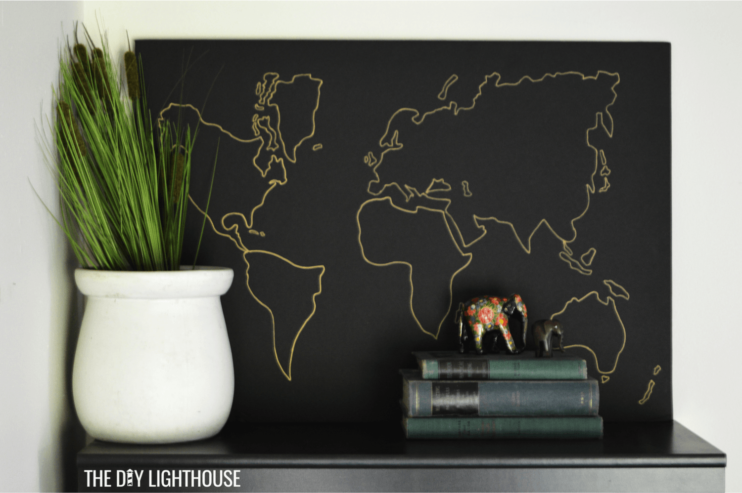 How to make a DIY World Map on a Budget