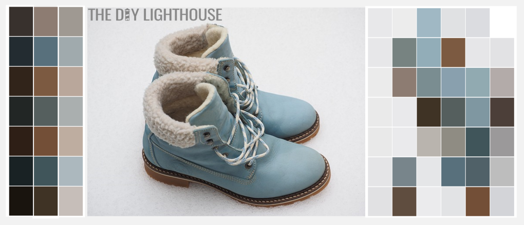 Fall Color Palette Combinations - Dusty Blue Fall Boots b