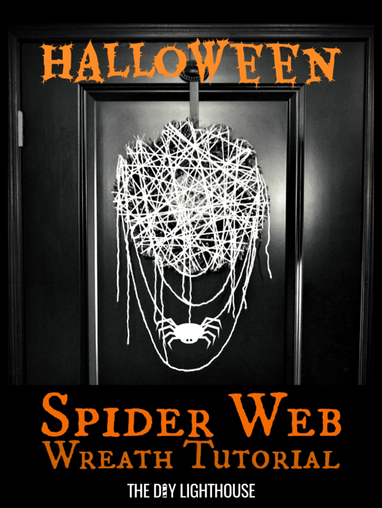 Halloween Spider Web Wreath Tutorial