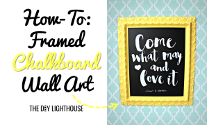 How-To Framed Chalkboard Wall Art featured image