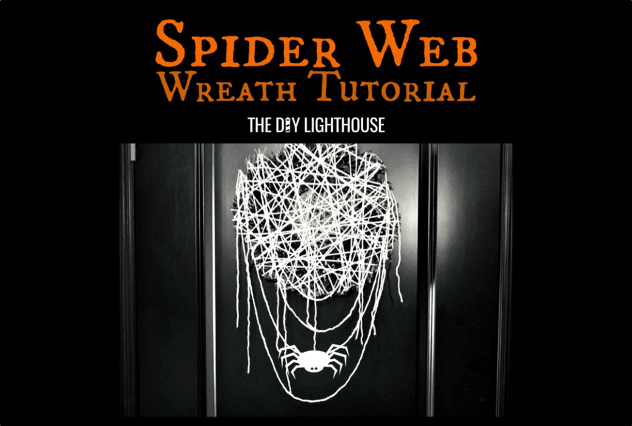 Spider Web Wreath Tutorial