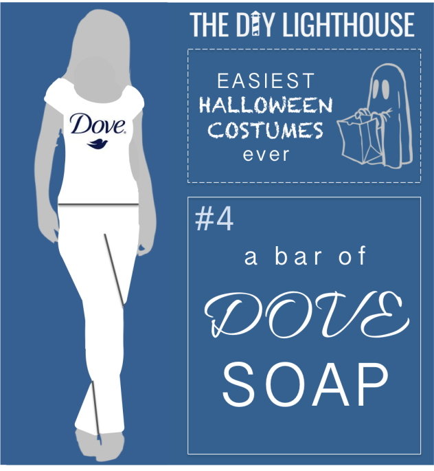easy halloween costume idea--a dove soap bar