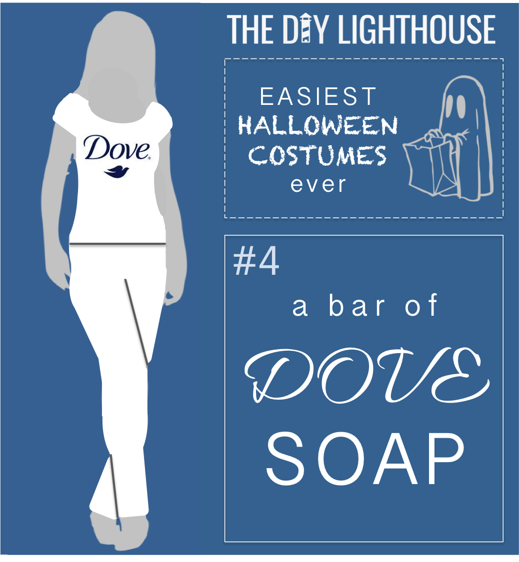 easy halloween costume idea a dove soap bar - Bar Of Soap Halloween Costume