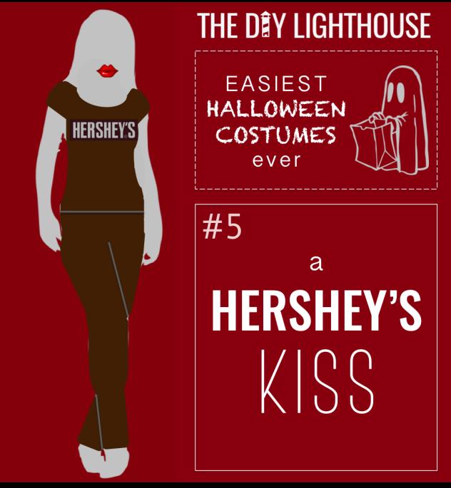 easy halloween costume idea--a hershey's kiss