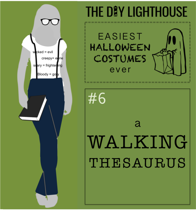 easy halloween costume idea--a walking thesaurus
