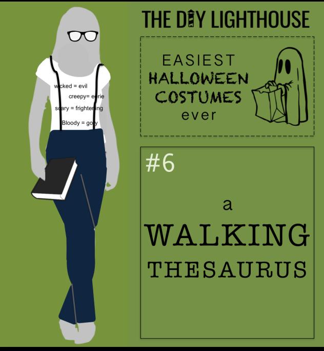 easy halloween costume idea--a walking thesaurus