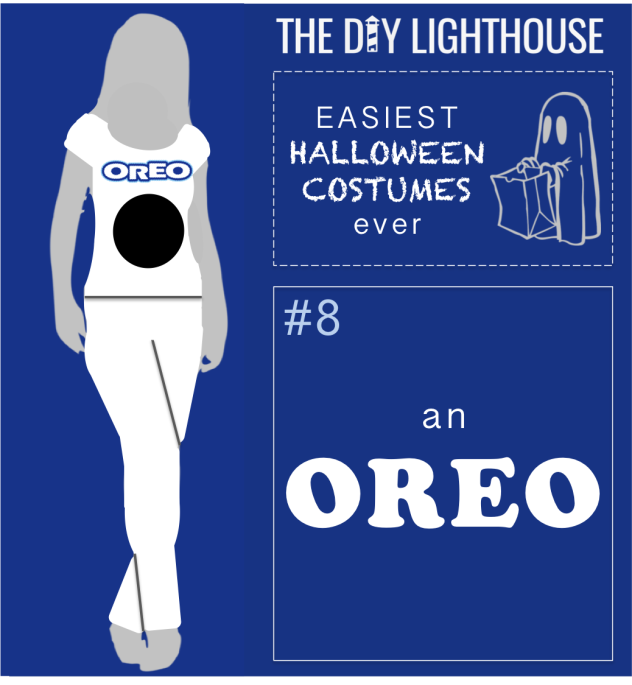 easy halloween costume idea--an oreo