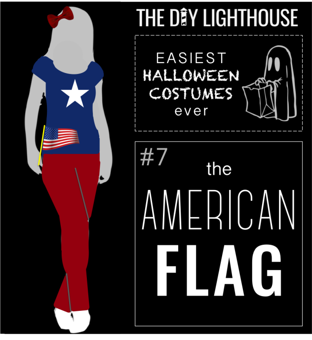 easy halloween costume idea--the american flag