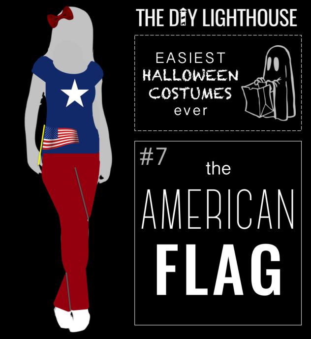 easy halloween costume idea--the american flag