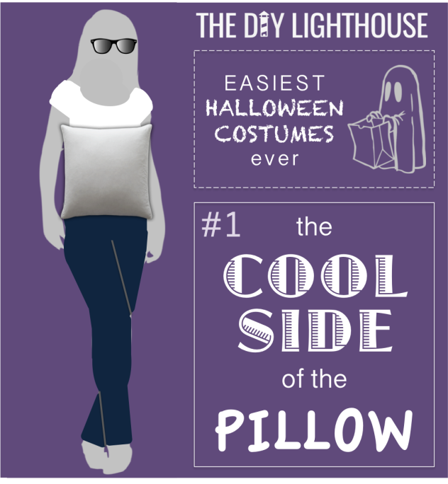 easy halloween costume idea--the cool side of the pillow