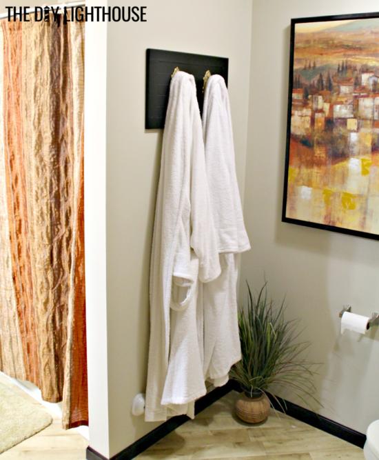 DIY antique towel holder