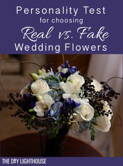 Real vs Fake Wedding Flowers pinterest