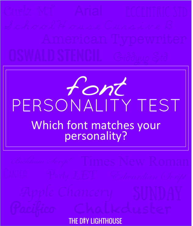 font personality test