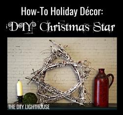 How-to Holiday Decor DIY Christmas Star