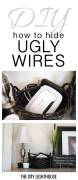 hide ugly wires pinterest