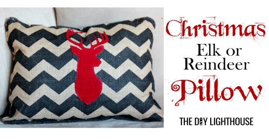 Christmas Elk or Reindeer Pillow