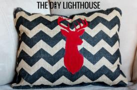 Placemat Repurposed - DIY Elk Pillow