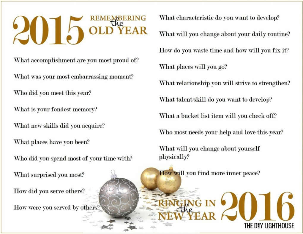 New Year Resolutions Worksheet white