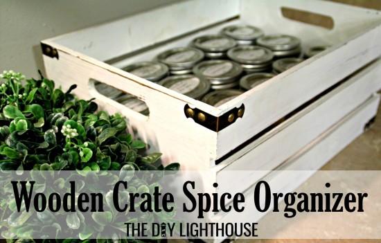 Wooden Crate Spice Organizer