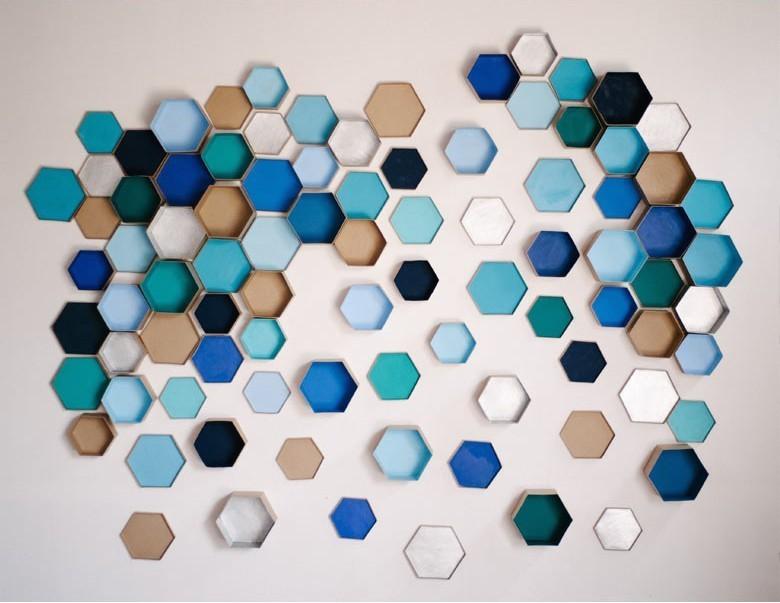 3D hexagon wall