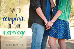 How to Complain in Marriage