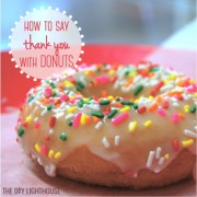 How to say THANK YOU with DONUTS