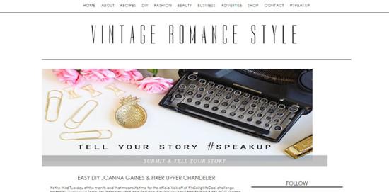 Vintage Romance Style