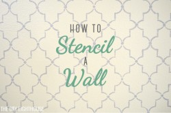 how to stencil a wall with paint