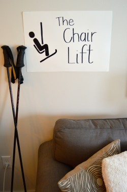 Ski Party Decoration Ideas: chair lift couch