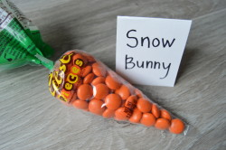 Ski Lingo Matching Game Prize Loser: Snow Bunny (Reeses Pieces Carrot Bag)