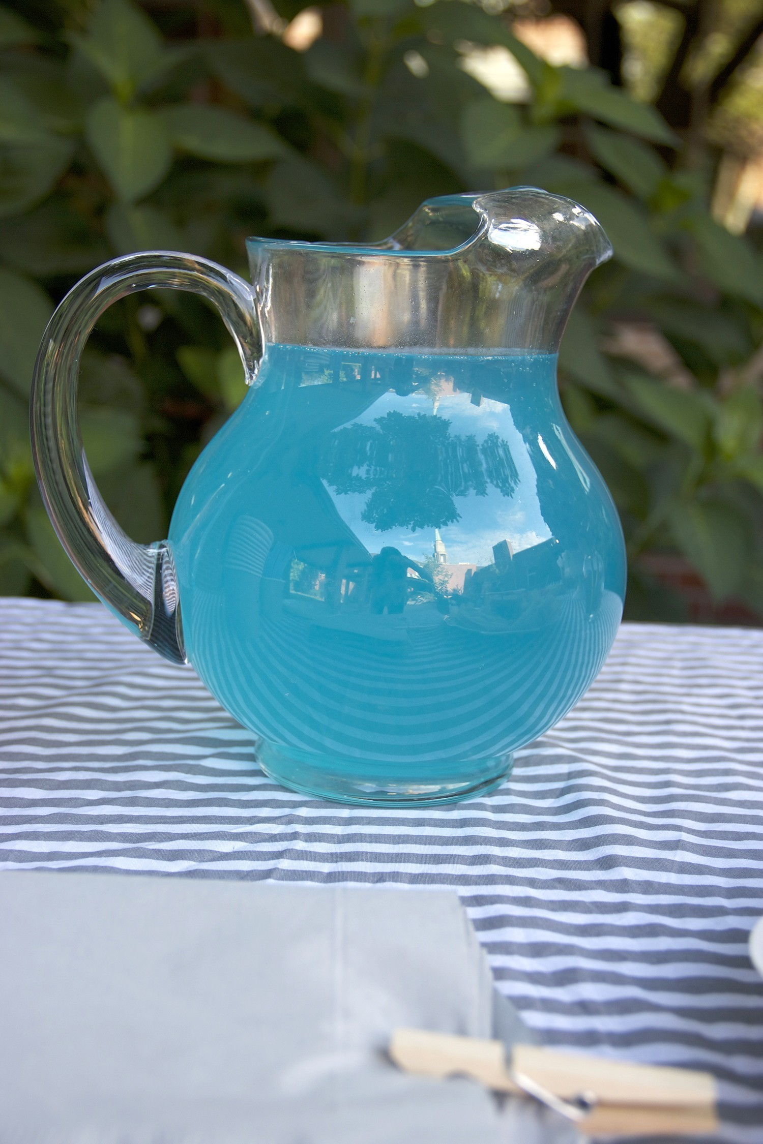 Blue Punch Drink For A Boy Lamb Themed Baby Shower