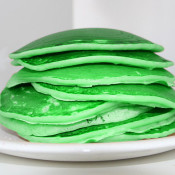green pancakes st pattys day