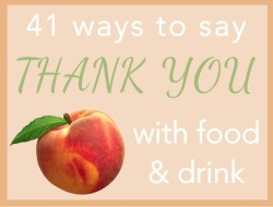 ways to say thank you with food and drink