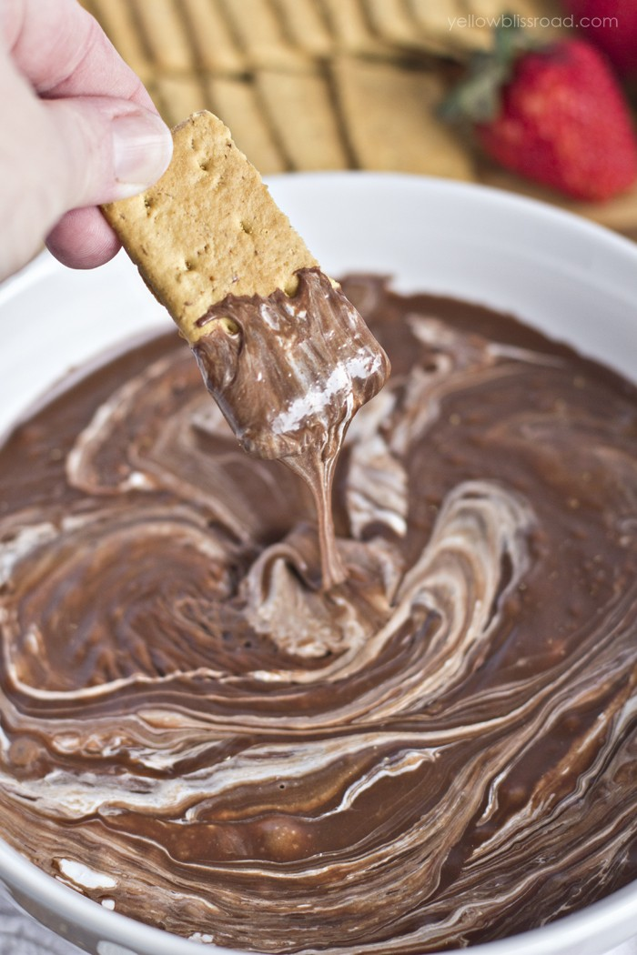 SMores-Dip | A list of the best 25 s'more recipes for summer. Smores dip, cookies, pie, brownies, and other ideas for tasty different ways to make that campfire dessert.