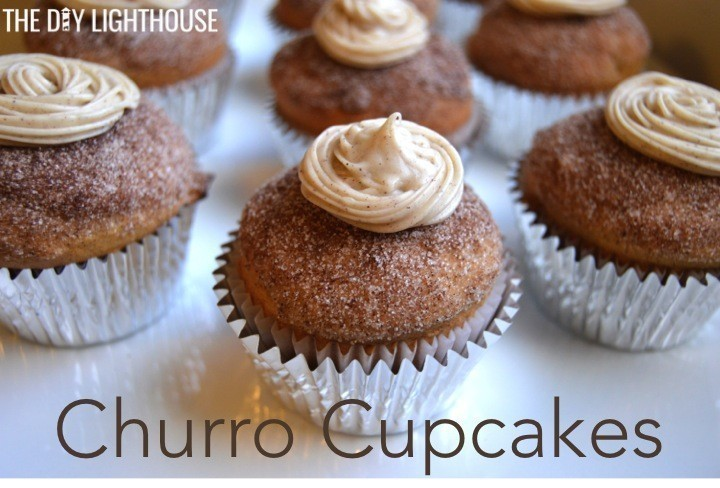 churro cupcakes for cinco de mayo